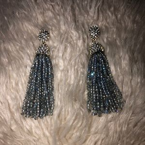BaubleBar Blue/Gray Tassle Earrings